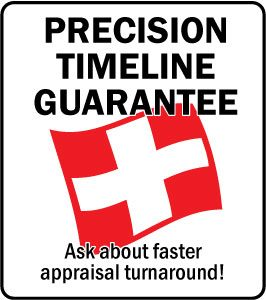 Precision Timeline Guarantee from Bernhardt SwissTrust Appraisal